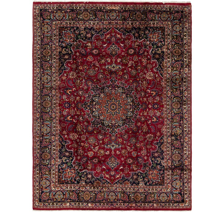 285cm x 390cm Mashad Persian Rug