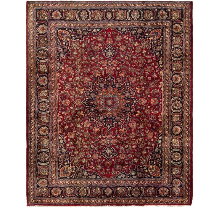 287cm x 360cm Mashad Persian Rug