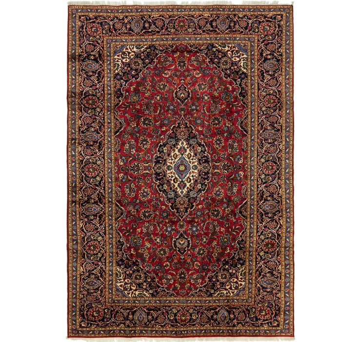 245cm x 363cm Kashan Persian Rug