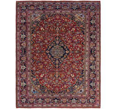 Image of 9' 6 x 12' 9 Mashad Persian Rug