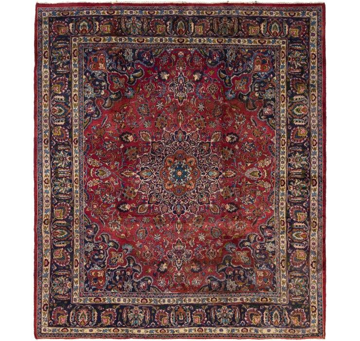 292cm x 335cm Mashad Persian Square Rug