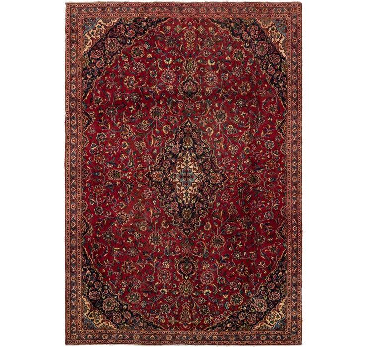 7' 2 x 10' 5 Mashad Persian Rug