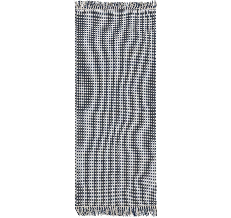 2' 4 x 6' Braided Chindi Runner Rug