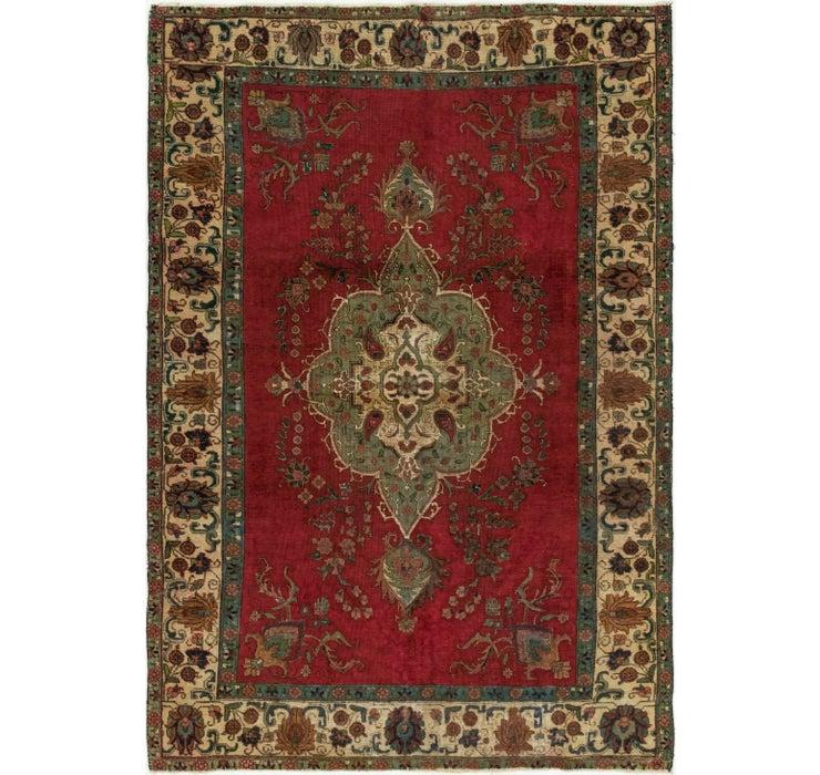 213cm x 325cm Tabriz Persian Rug
