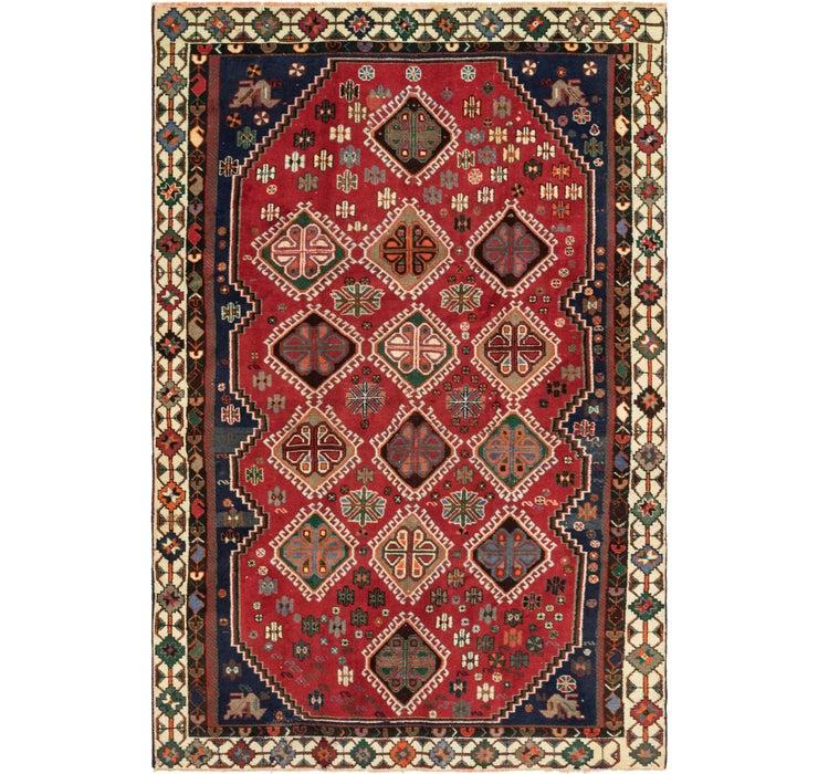 6' x 9' 4 Shiraz Persian Rug