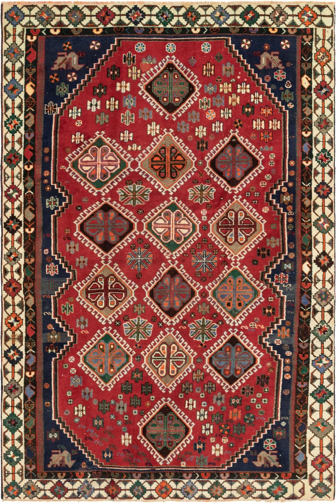 6' x 9' 4 Shiraz Persian Rug main image