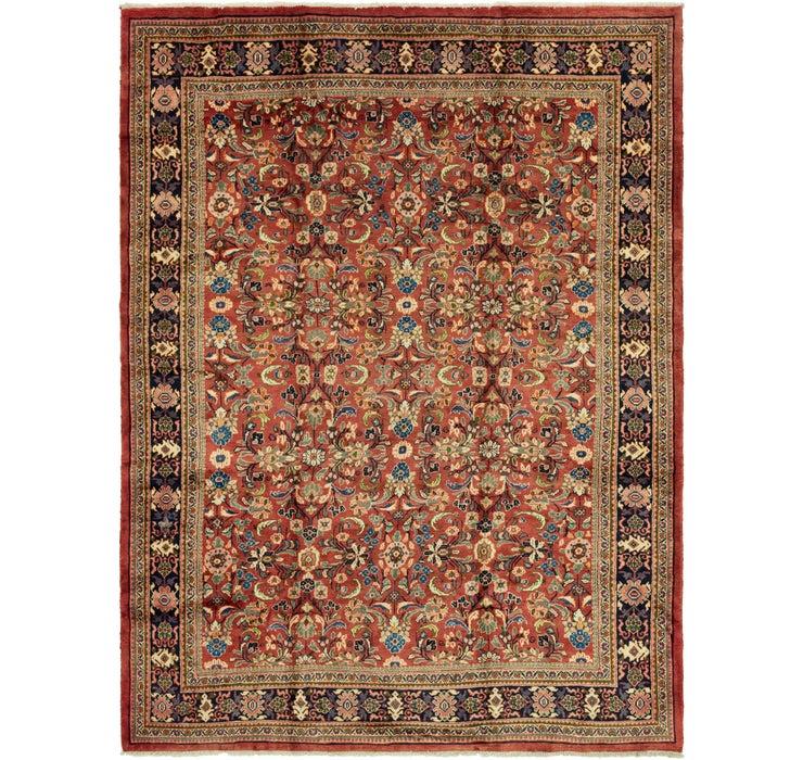 10' 2 x 13' 7 Meshkabad Persian Rug