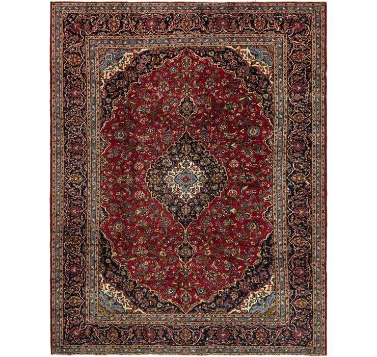 10' x 12' 7 Kashan Persian Rug