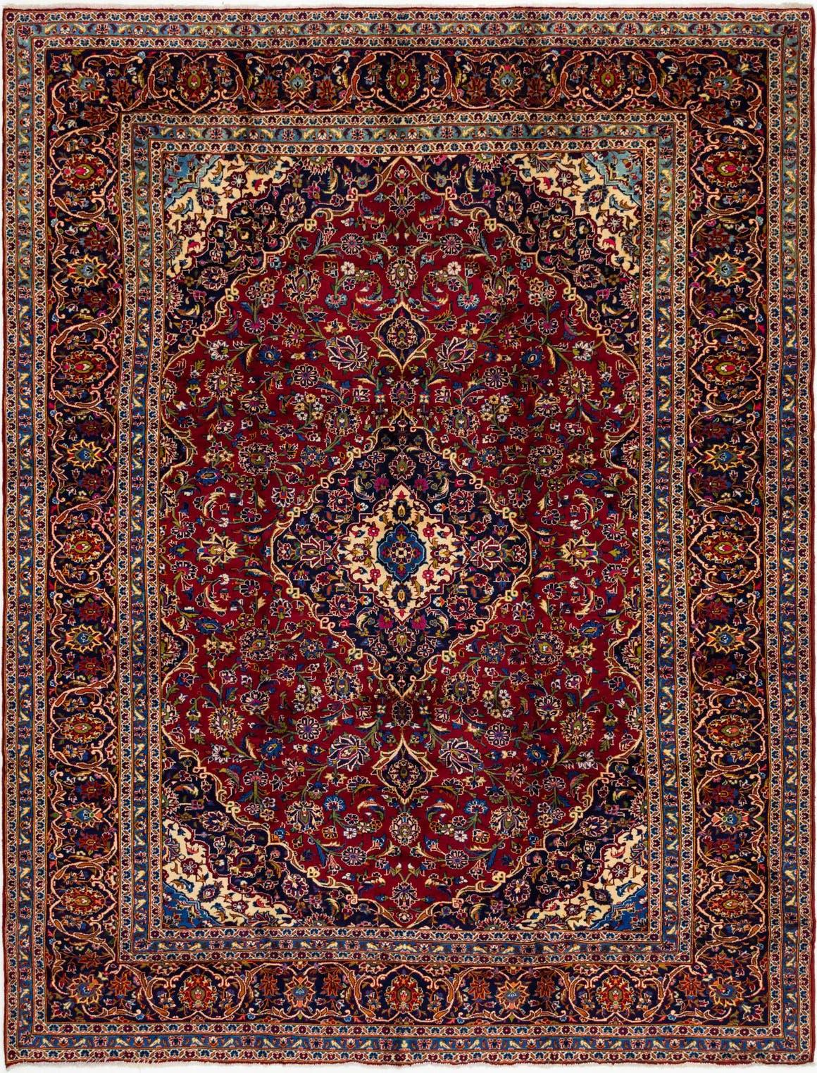 9' 10 x 12' 10 Kashan Persian Rug main image