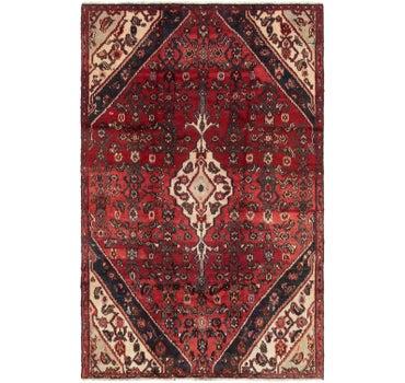 4' 10 x 7' 7 Hamedan Persian Rug main image