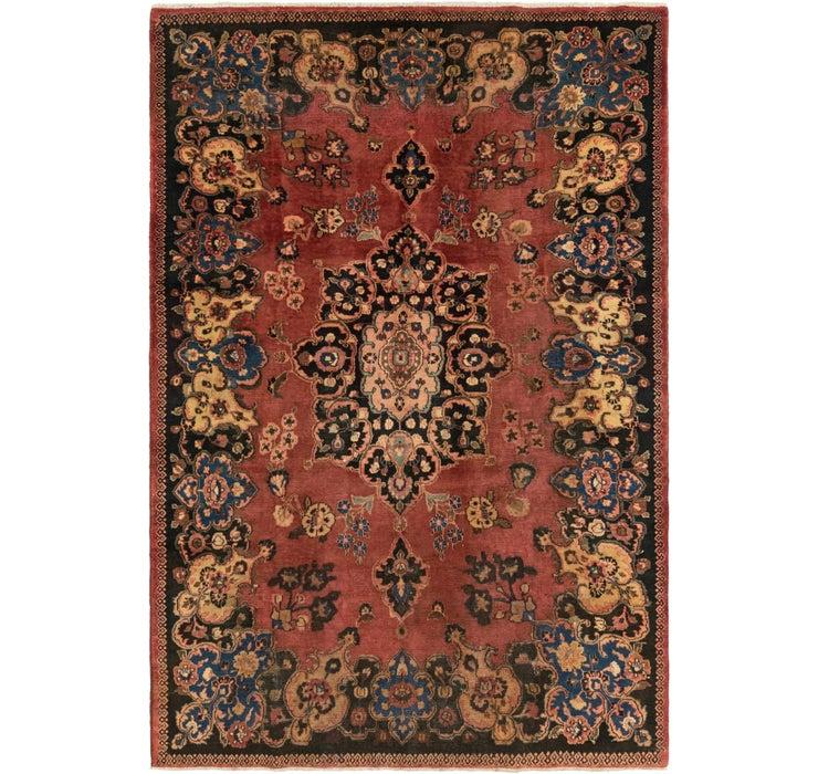 213cm x 318cm Mashad Persian Rug