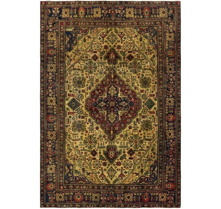 6' 5 x 9' 6 Tabriz Persian Rug