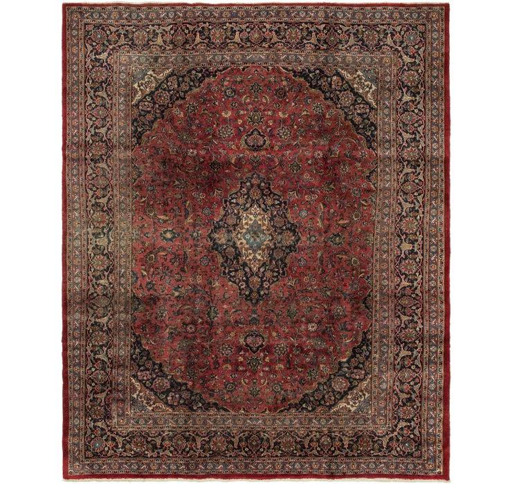 285cm x 355cm Mashad Persian Rug
