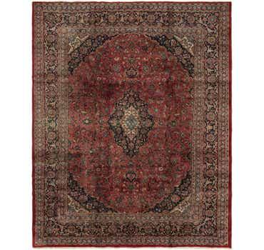 Image of 9' 4 x 11' 8 Mashad Persian Rug