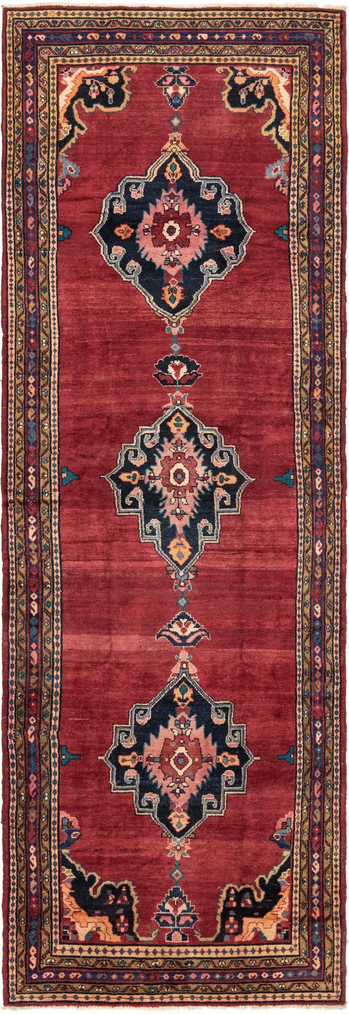 4' 6 x 14' 2 Hamedan Persian Runner Rug main image