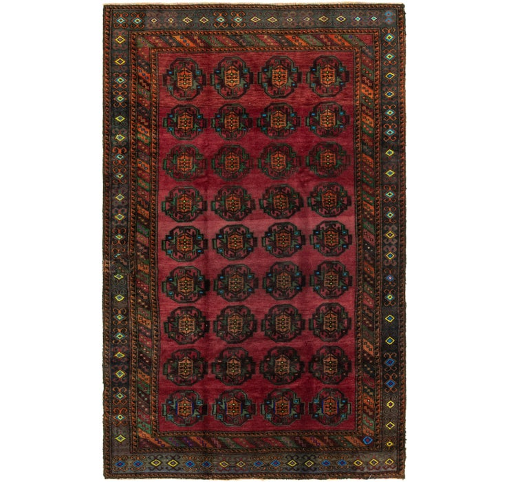 5' 3 x 8' 6 Torkaman Persian Rug