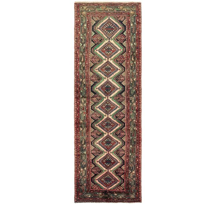 Image of 102cm x 318cm Chenar Persian Runner Rug