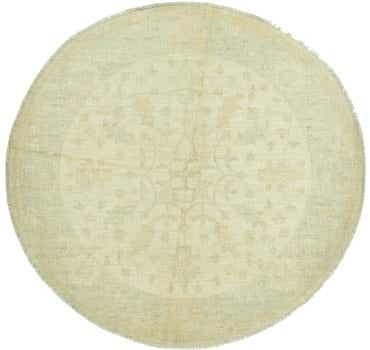Image of 5' 6 x 5' 8 Oushak Round Rug