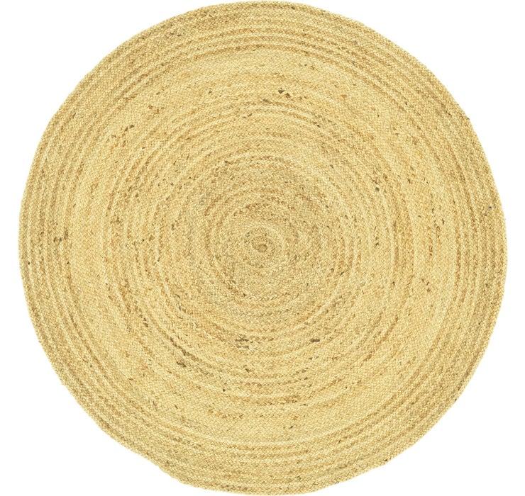 183cm x 188cm Braided Jute Round Rug