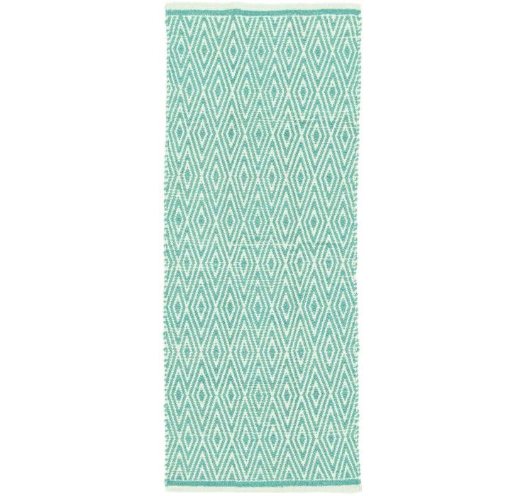 2' x 5' 2 Chindi Cotton Runner Rug