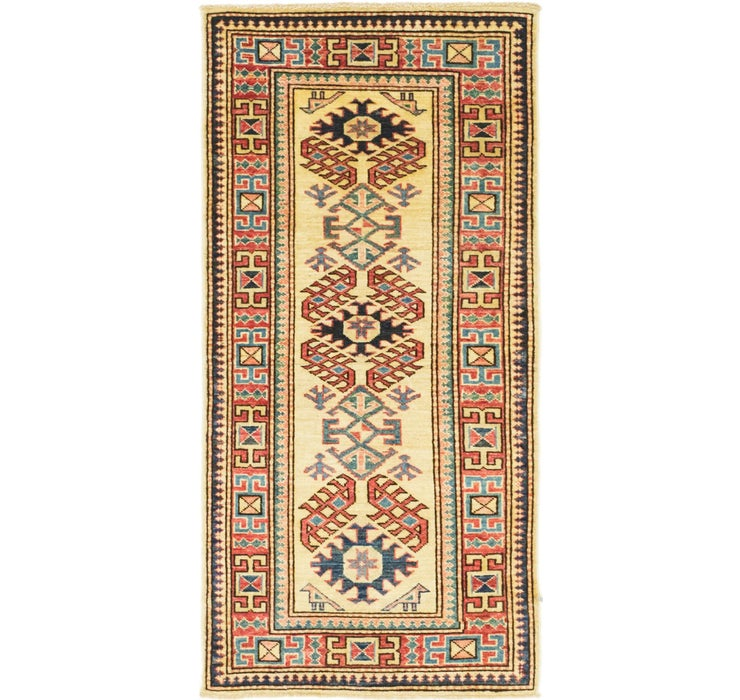 2' 2 x 4' 2 Kazak Oriental Runner Rug