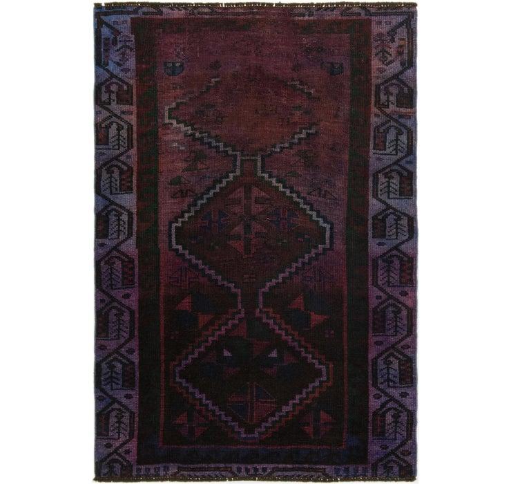 110cm x 165cm Ultra Vintage Persian Rug