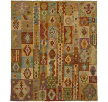 Image of 8' x 9' 7 Kilim Maymana Rug