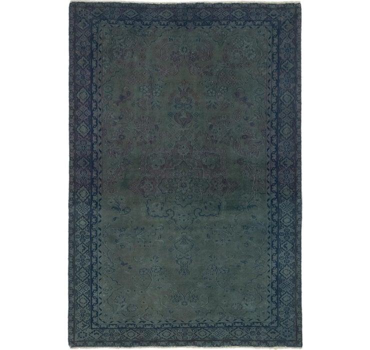 100cm x 147cm Ultra Vintage Persian Rug