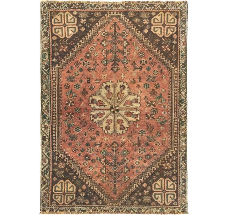 102cm x 147cm Ultra Vintage Persian Rug