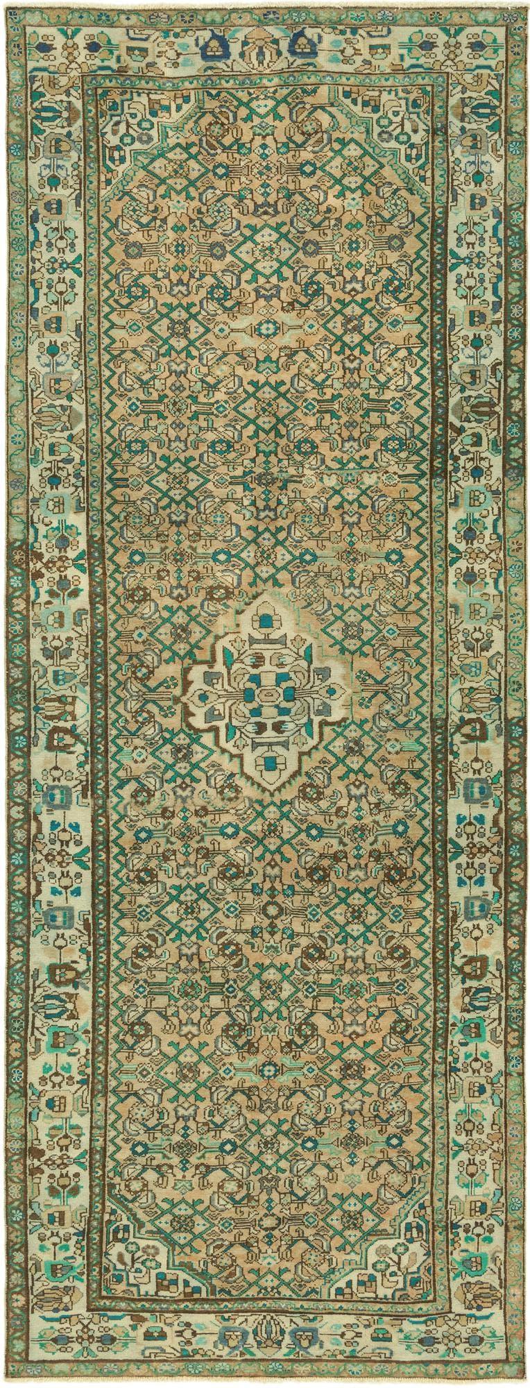 4' 9 x 13' Ultra Vintage Persian Runner Rug main image