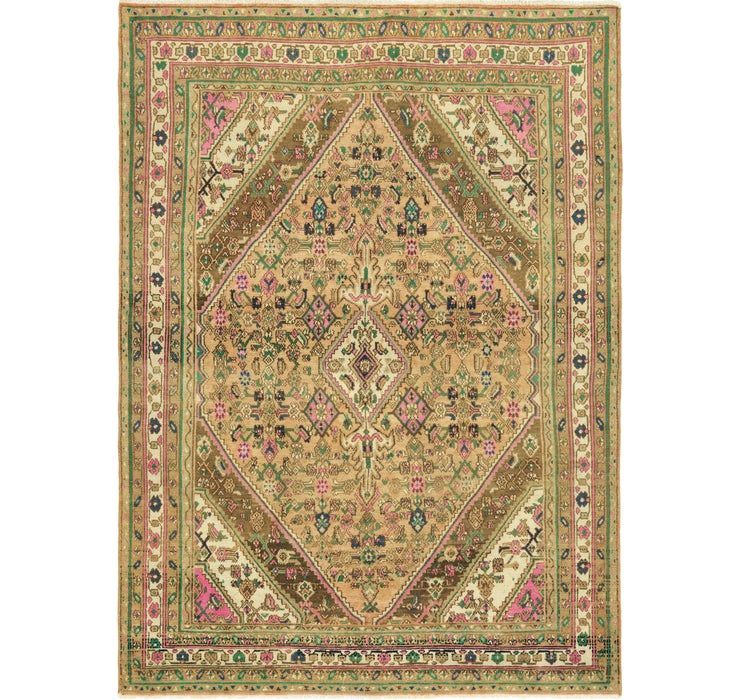 213cm x 292cm Ultra Vintage Persian Rug