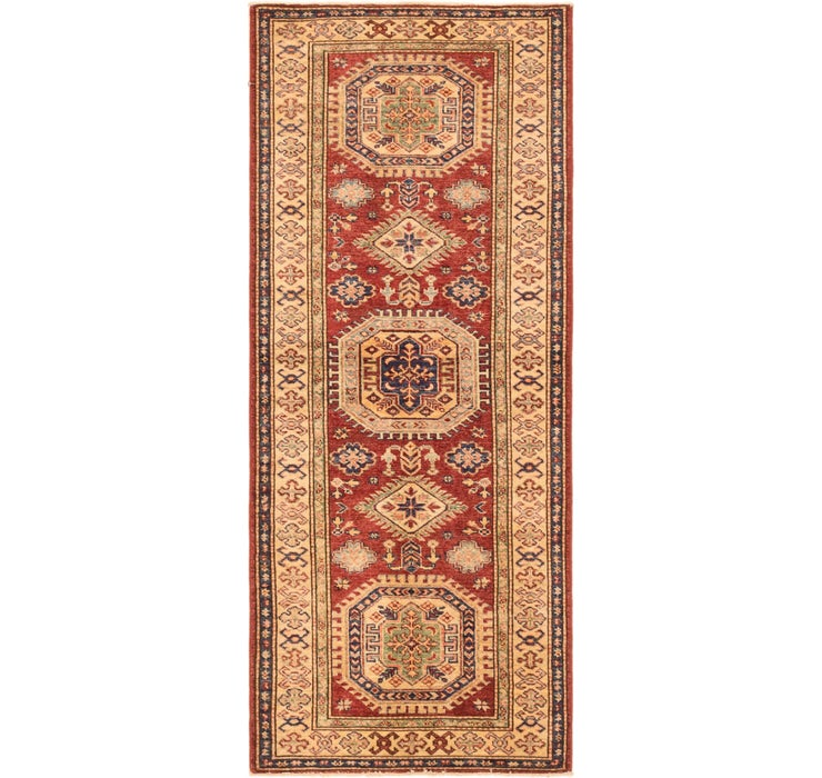 2' 6 x 6' 3 Kazak Oriental Runner Rug