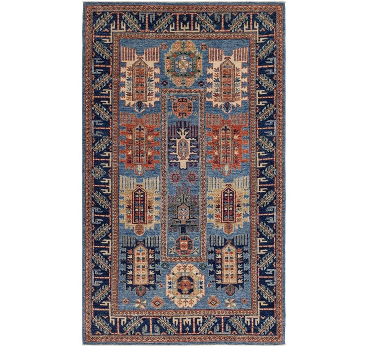 4' 8 x 8' Kazak Oriental Rug