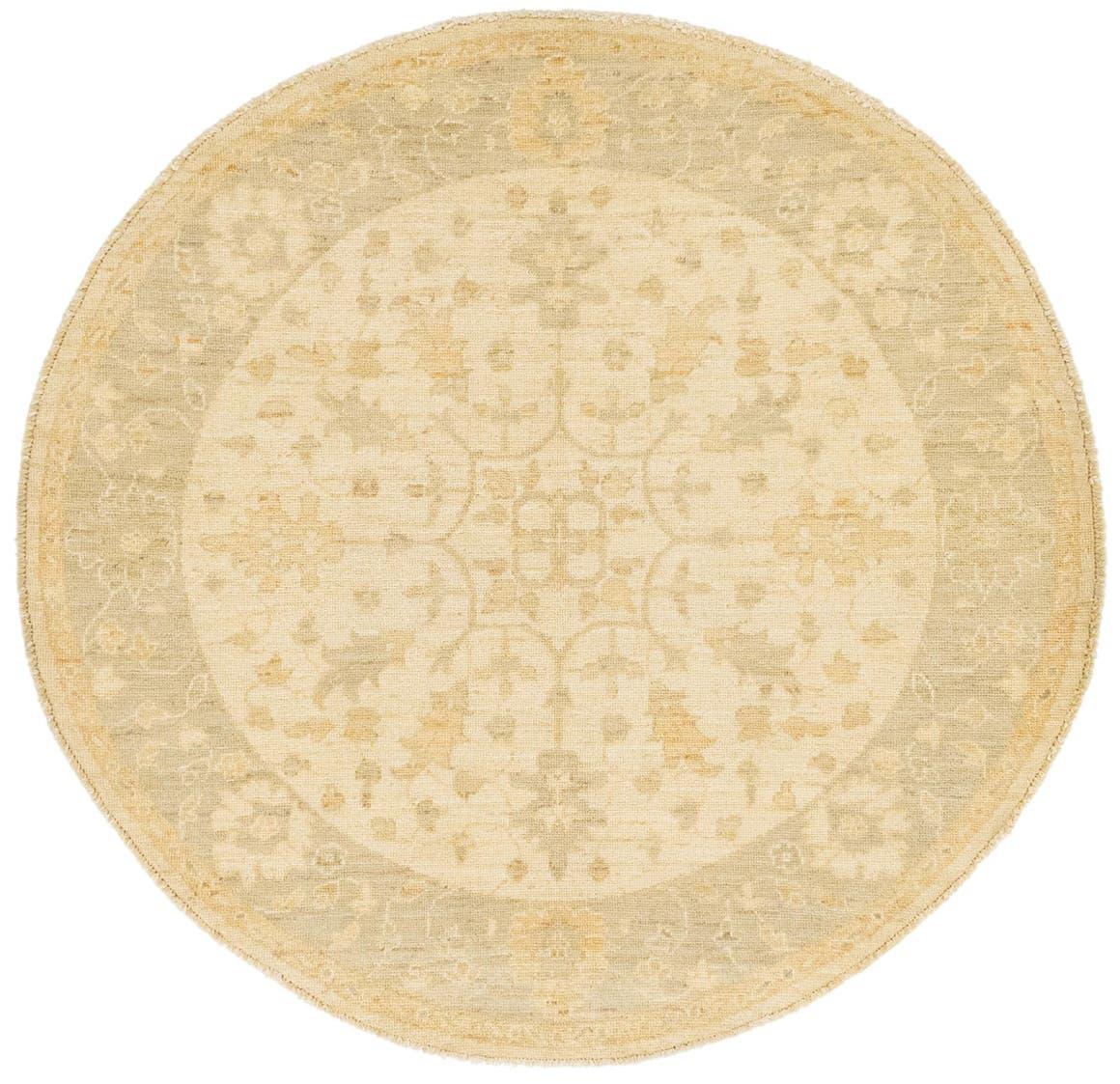 5' 6 x 5' 8 Peshawar Ziegler Round Rug main image