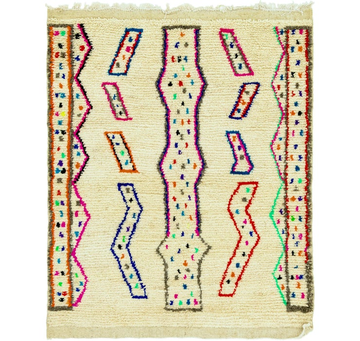 4' 9 x 6' Moroccan Rug