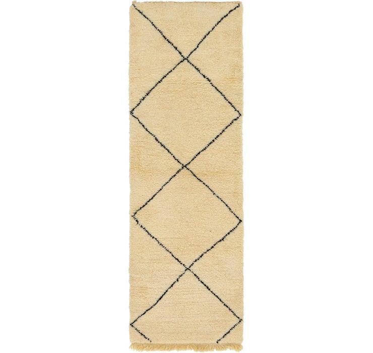 2' 11 x 9' 3 Moroccan Runner Rug