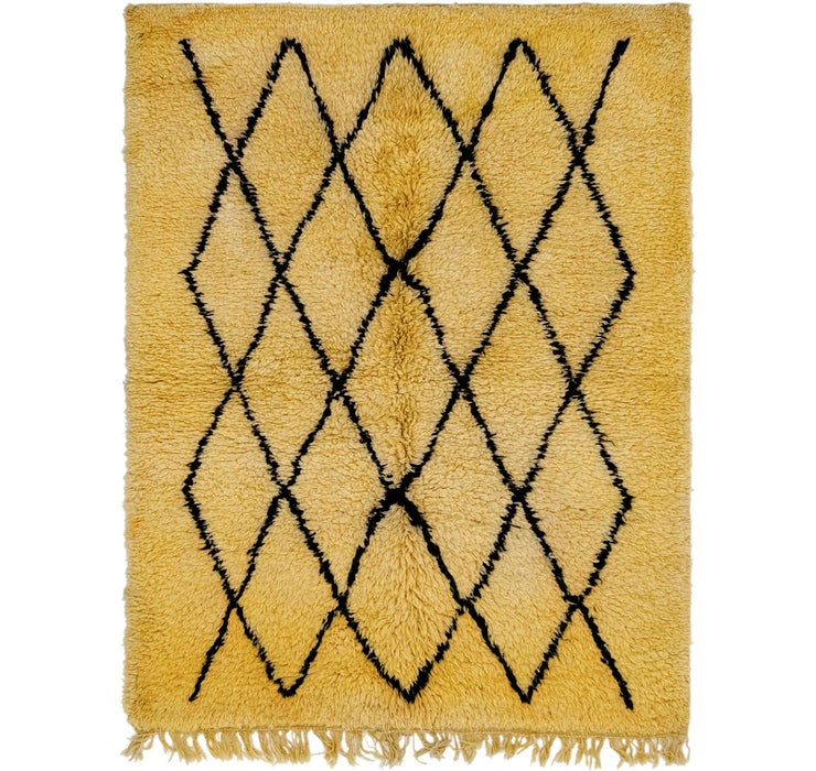 6' 3 x 7' Moroccan Square Rug