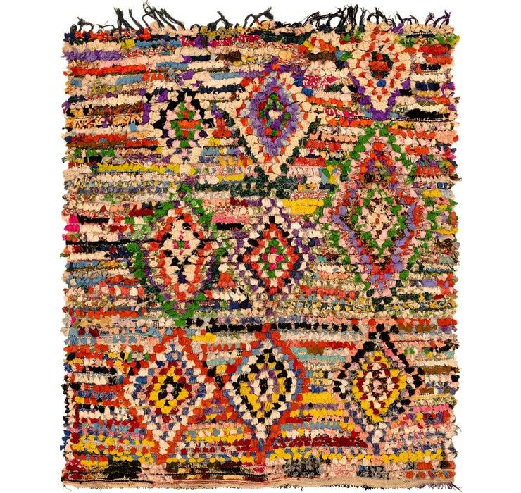 5' 8 x 6' 8 Moroccan Square Rug
