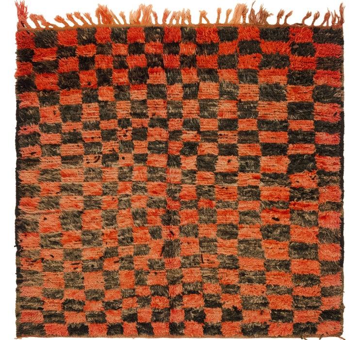 4' 10 x 5' Moroccan Square Rug