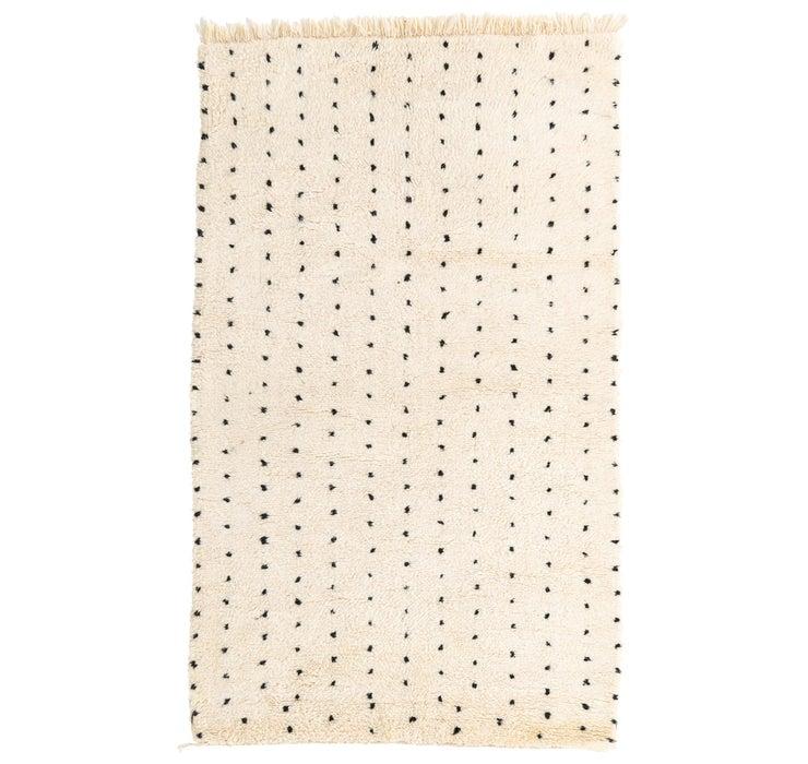 5' x 8' 3 Moroccan Rug