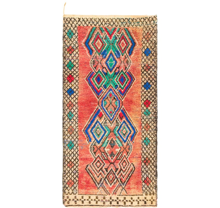 4' 7 x 10' Moroccan Runner Rug