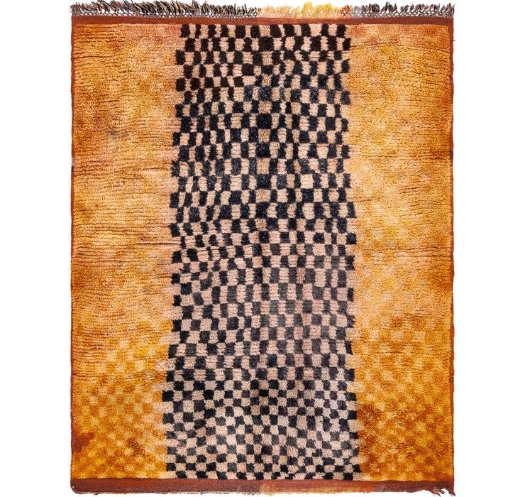4' 9 x 5' 6 Moroccan Square Rug