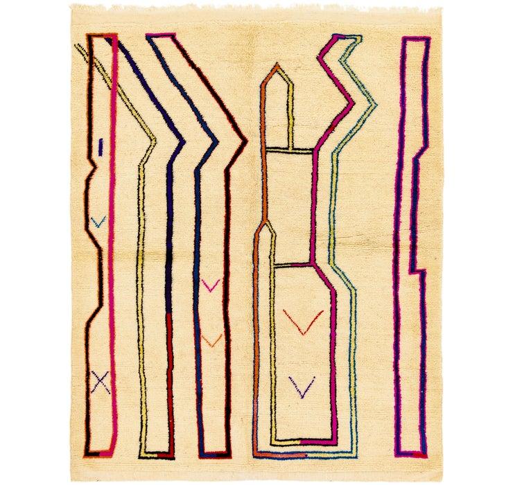 5' 3 x 6' 6 Moroccan Square Rug