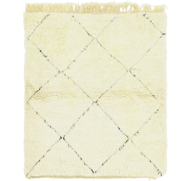4' 1 x 4' 9 Moroccan Square Rug