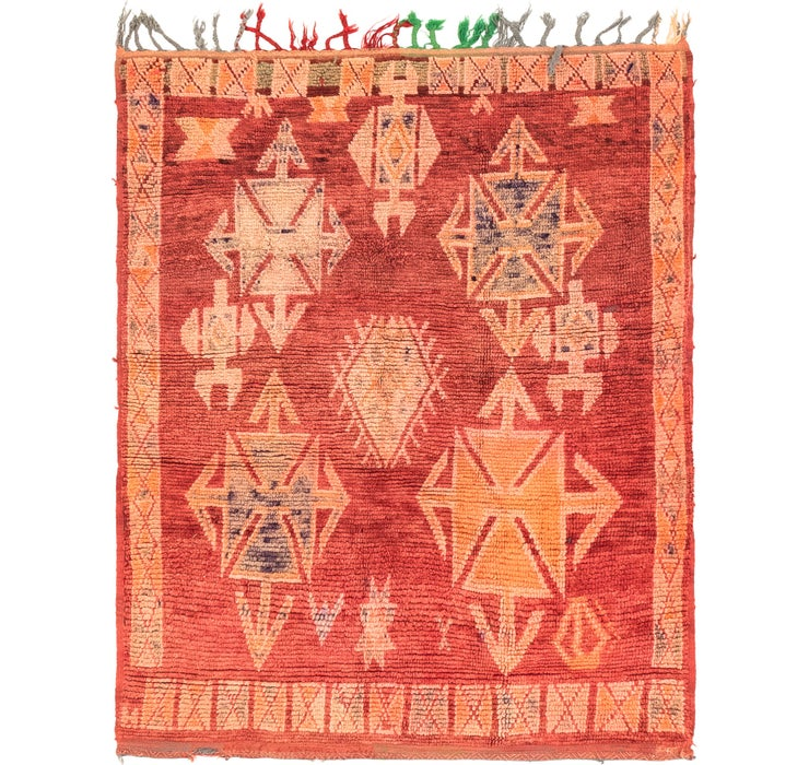 4' 1 x 5' 4 Moroccan Square Rug