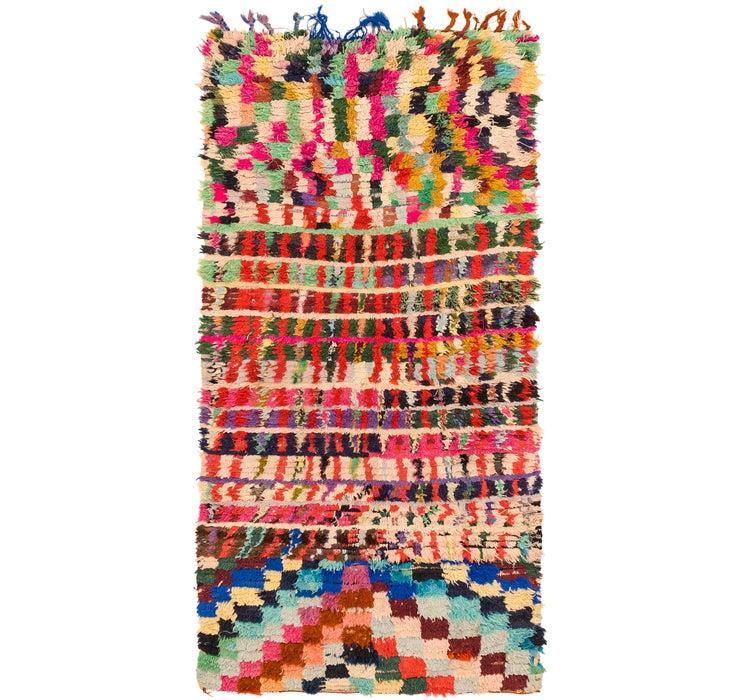 3' 9 x 7' Moroccan Runner Rug