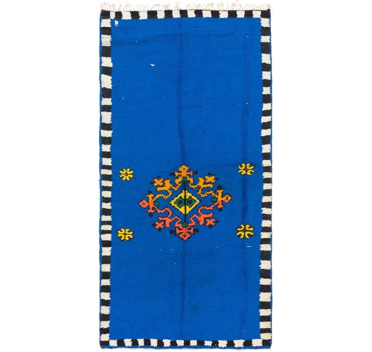 3' 4 x 6' 9 Moroccan Runner Rug