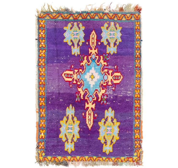 3' 2 x 4' 10 Moroccan Rug