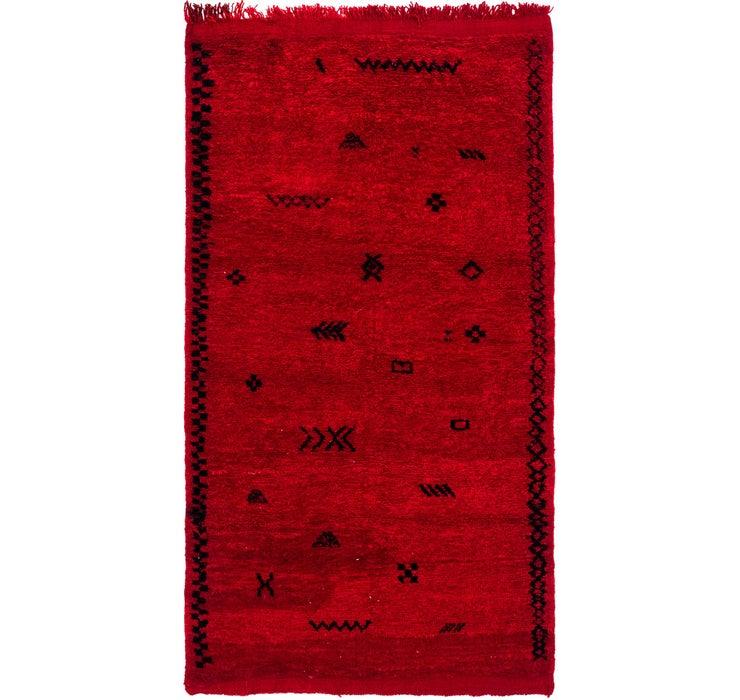 3' 10 x 7' 2 Moroccan Rug