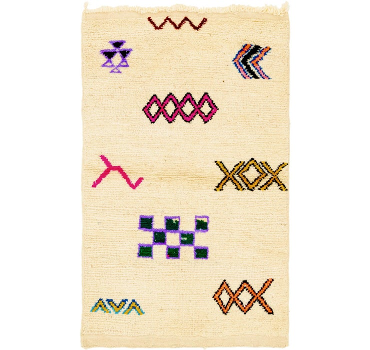 2' 10 x 4' 7 Moroccan Rug